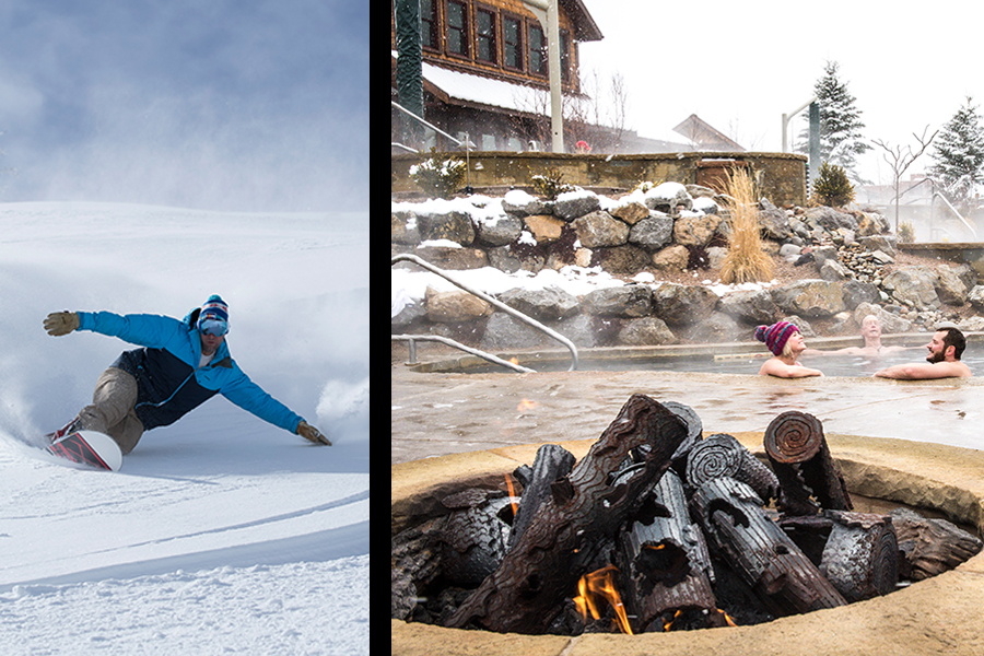 Three Days In: Small town ski & soak