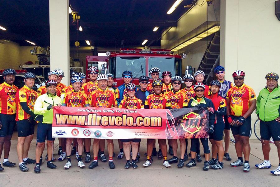 AAA member, firefighter, cyclist