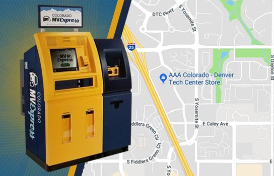 DMV kiosk at AAA Greenwood Village