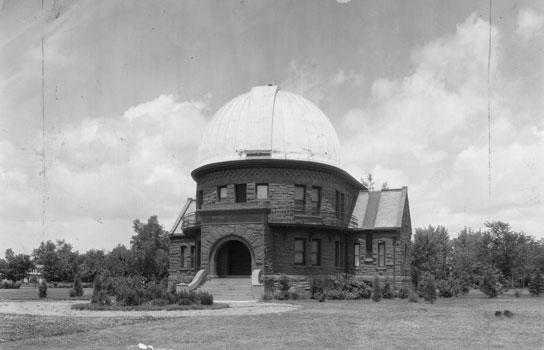 The historic Chamberlain Observatory.