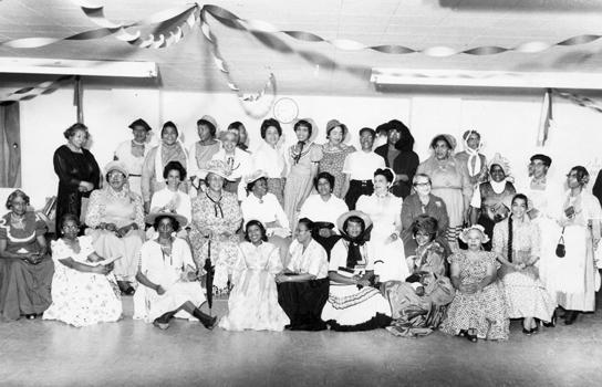 Ladies of Zion Baptist Church gathered for a photo.