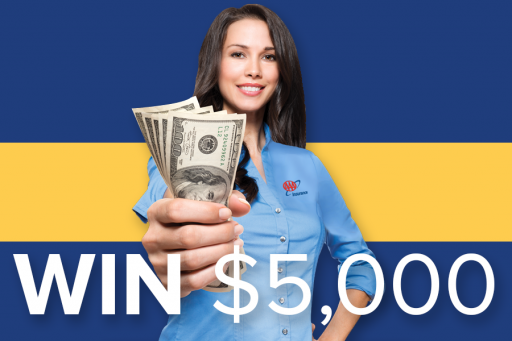 Win 1 of 3 $5,000 Visa Gift Cards!