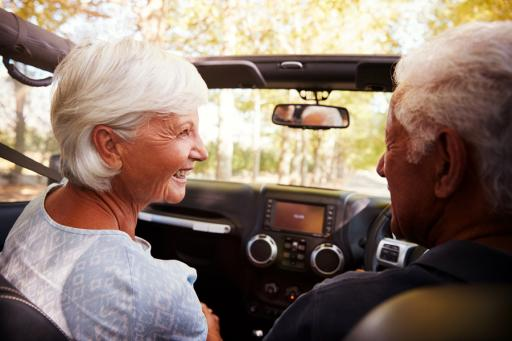 Older drivers in their car.