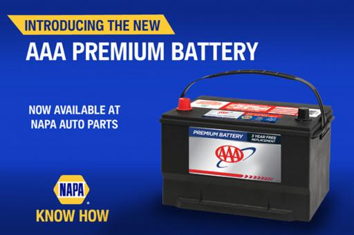 Discounted AAA Premium Batteries Now Available at NAPA Stores